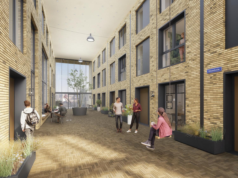 Nieuwbouwproject De Maasbode in Cool in de Stadsdriehoek
